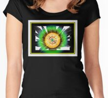 Abstract #17 Women's Fitted Scoop T-Shirt