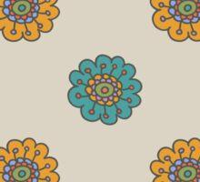 Retro doodle floral pattern Sticker