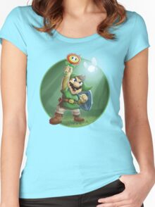 The Legend of Mario Women's Fitted Scoop T-Shirt