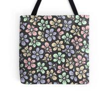 Cute retro color floral pattern Tote Bag