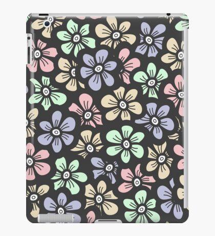 Cute retro color floral pattern iPad Case/Skin
