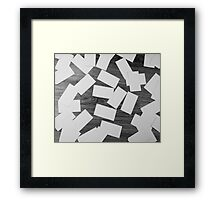 white sheets of paper scattered  Framed Print