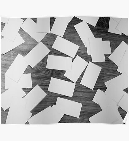 white sheets of paper scattered  Poster