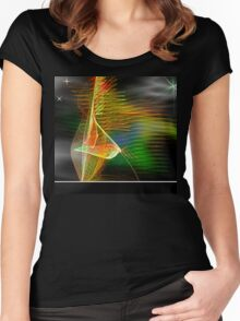 Abstract #10 Women's Fitted Scoop T-Shirt