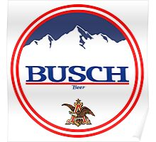 buschlight, busch light, busch, beer, drink, mountain, pub, logo, symbol. Poster
