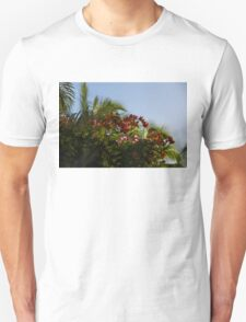 Palm Trees and Tropical Flowers Unisex T-Shirt