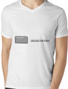 Caps Lock Mens V-Neck T-Shirt