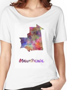 Mauritania in watercolor Women's Relaxed Fit T-Shirt