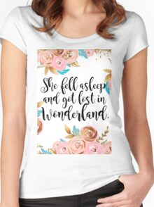 Lost in Wonderland Women's Fitted Scoop T-Shirt