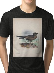 Aves Hawaiienses the birds of the Sandwich Islands Scott Wilson 1899 062 Oceanodroma Cryptoleucura Tri-blend T-Shirt
