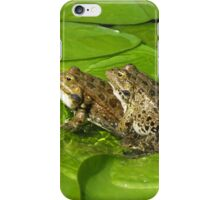 Mating frogs iPhone Case/Skin