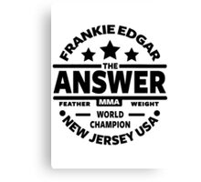 Frankie Edgar Canvas Print