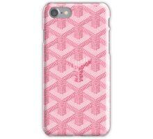 goyard pink logo iPhone Case/Skin