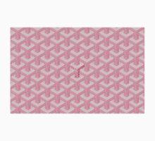 goyard pink logo Kids Tee