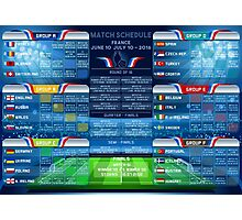 UEFA EURO 2016 Finals Schedule Photographic Print