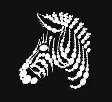 Zèbre de perles (version blanche) Unisex T-Shirt