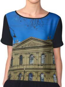 Facade of the Beehive Building - Bendigo, Victoria Chiffon Top