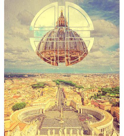 Geometric Vatican St Peter's Square Basilica Dome Italy Rome Sticker