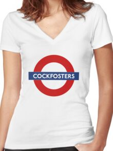 Cockfosters Women's Fitted V-Neck T-Shirt
