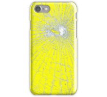 Broken Glass 2 iPhone Yellow iPhone Case/Skin