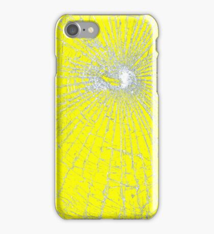 Broken Glass 2 iPhone Yellow iPhone Case/Skin