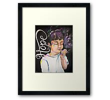 Breathe in the Hope, Exhale the Circumstances Framed Print