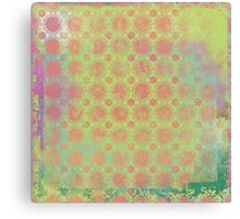 Pop Painted Watercolor - Bright and Bold green and coral pattern Canvas Print