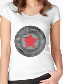 Winter Solider Shield Women's Fitted Scoop T-Shirt