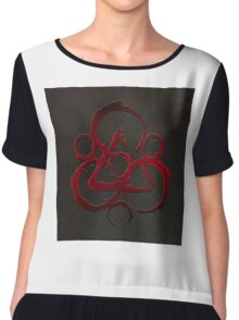 HOT COHEED & CAMBRIA  RED SYMBOL Chiffon Top
