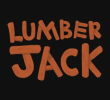 LUMBER JACK (lumberjack) quick draw in wooden type One Piece - Short Sleeve