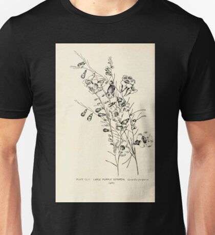 Southern wild flowers and trees together with shrubs vines Alice Lounsberry 1901 152 Large Purple Gerardia Unisex T-Shirt