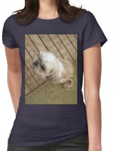 shih tzu look cool Womens Fitted T-Shirt