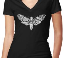Black Atropos Women's Fitted V-Neck T-Shirt