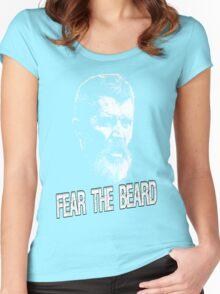 Roy Keane: Fear The Beard Women's Fitted Scoop T-Shirt