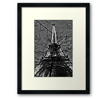 Eiffel Tower B&W Framed Print