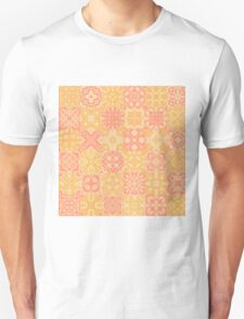 Pink and Yellow Grandmother's Quilt Unisex T-Shirt