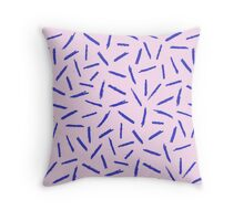 Crayon Scribble Pattern Pink Blue Throw Pillow