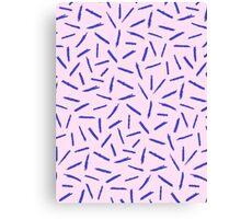 Crayon Scribble Pattern Pink Blue Canvas Print