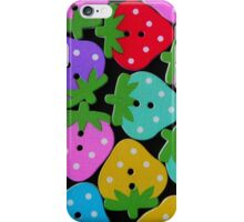 Strawberry Buttons iPhone Case/Skin
