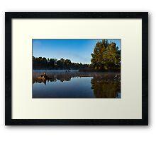 Misty River Reflections Framed Print