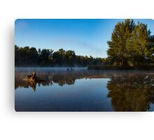 Misty River Reflections Canvas Print
