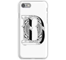 D - Mandala N°1 inside Alphabet N°1 iPhone Case/Skin
