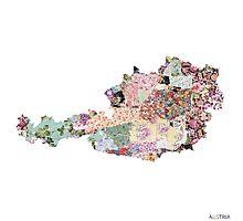 Austria map Photographic Print
