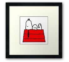 sleeping snoopy huft Framed Print