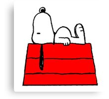sleeping snoopy huft Canvas Print