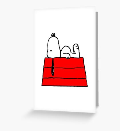 sleeping snoopy huft Greeting Card
