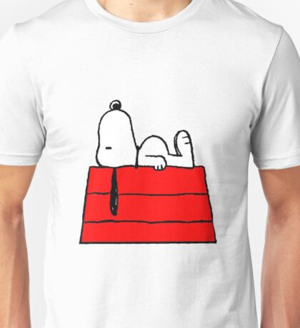 sleeping snoopy huft Unisex T-Shirt