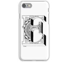 E -  Mandala N°1 inside Alphabet N°1 iPhone Case/Skin