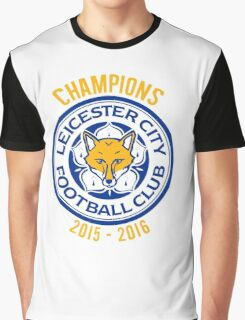 Leicester City FC - Champions 2015 2016 Graphic T-Shirt