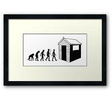 The Evolution Of Dad Framed Print